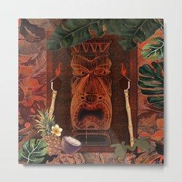 Forbidden Luau Tiki Party Metal Print