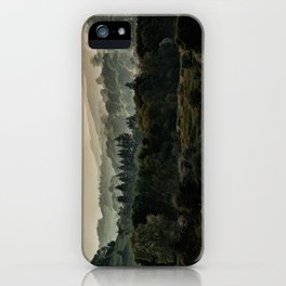 Foggy morning in Lake District iPhone Case