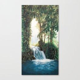 Waterfall Woman Canvas Print