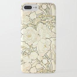 "Alphonse Mucha ""Peonies"" iPhone Case"
