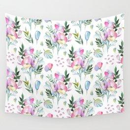 Flower pattern: watercolor Wall Tapestry