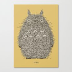 Yellow Totoro Canvas Print