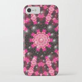 Christmas mosaic mandala iPhone Case