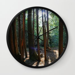 Saturated Forest Wall Clock
