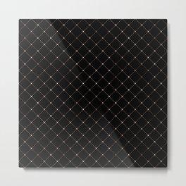 Black Diamond Pattern Metal Print