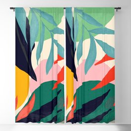 Abstract Art Tropical Leaves 42 Blackout Curtain