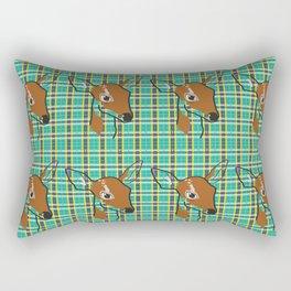 Plaid Fawn Rectangular Pillow
