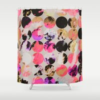 circles Shower Curtains featuring Circles by Georgiana Paraschiv