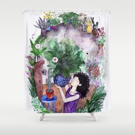Oh, the plants! How they love you back! Shower Curtain