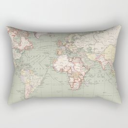 Vintage Map of The World (1915) Rectangular Pillow