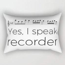 I speak recorder Rectangular Pillow