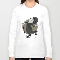 chaplin Long Sleeve T-shirts featuring Chaplin by GARABATOS