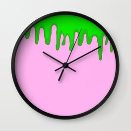 Slime time Wall Clock
