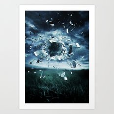 And the storm broke Art Print