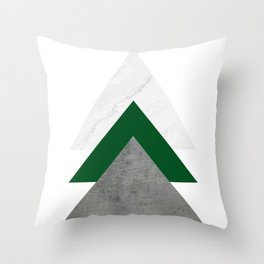 Marble Green Concrete Arrows Collage Throw Pillow