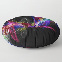 Colorful musical notes and scales artwork Floor Pillow