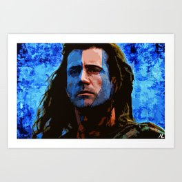 William Wallace from Braveheart illustration Movie Pop Art Film Home Decor Scottish Art Print