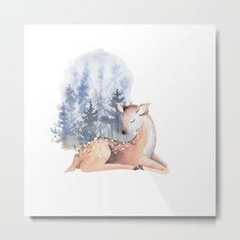 Cute adorable Deer 2 Metal Print