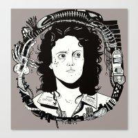ripley Canvas Prints featuring ELLEN RIPLEY by marimattes