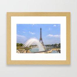 PARIS Eiffel Tower with rainbow Framed Art Print