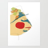 Art Print featuring l'homme poisson by Soloka