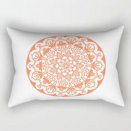 Orange Mandala Rectangular Pillow