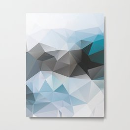 Blue Poly Metal Print
