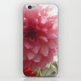 Pretty Pink Dahlia Ruffles iPhone Skin