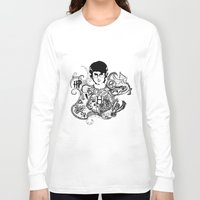 potter Long Sleeve T-shirts featuring Harry Potter by Ink Tales