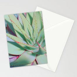 Pastel and neon succulent no1 Capture a cactus Stationery Cards