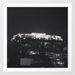 Akropoli - When in Athens  Art Print