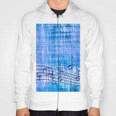 more music, blue Hoody