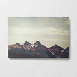 Mountain Ridge Morning Metal Print