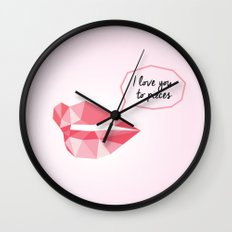 Love You To Pieces Wall Clock