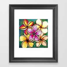 Plumerias Framed Art Print
