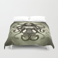 medusa Duvet Covers featuring Medusa by Freeminds