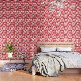 Love Pattern Text & Hearts Wallpaper