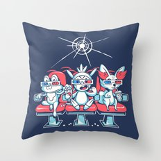 Movie Night in 3D Throw Pillow