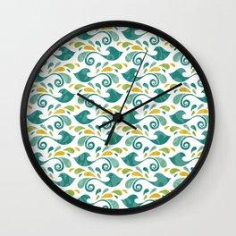 Colrful birdspatern Wall Clock