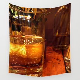 SPARKLING GOLDEN WATER Wall Tapestry