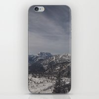 the mountains are calling iPhone & iPod Skins featuring The mountains are calling by UtArt