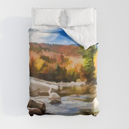 Saco River Painting Duvet Cover