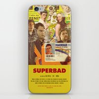 greg guillemin iPhone & iPod Skins featuring Superbad - Greg Mottola by Smart Store
