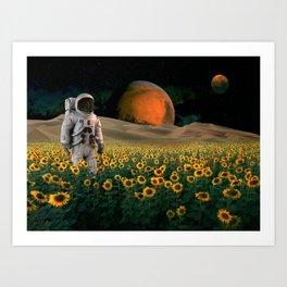 The Sunflower Field Art Print