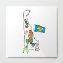 Delaware Mermaid Metal Print