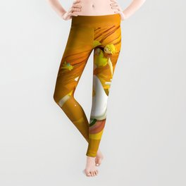 Yellow woman Leggings