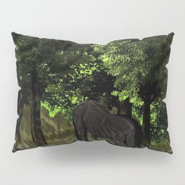 Horse in Forest - Dressage Pillow Sham