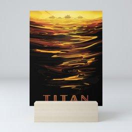 NASA Retro Space Travel Poster #12 - Titan Mini Art Print