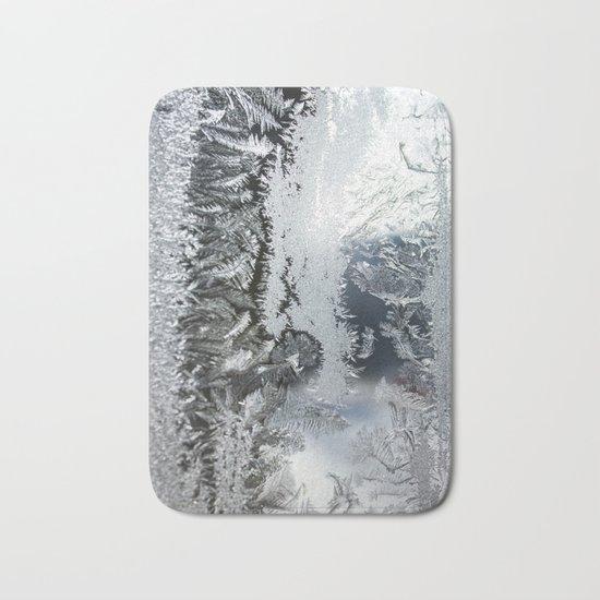 Frosty window Bath Mat