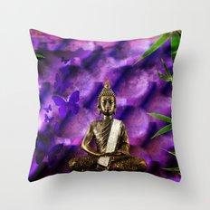 purple Buddha Throw Pillow